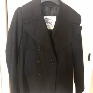 Black Burberry Peacoat Size 4